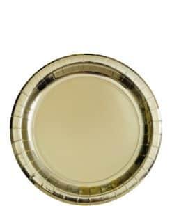 Metallic Gold Dessert Paper Plates