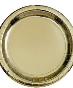 Metallic Gold Paper Plates