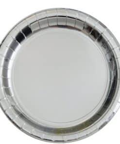 Metallic Silver Paper Plates