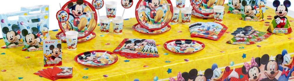 Mickey Mouse themed party decorations with Next Day Delivery