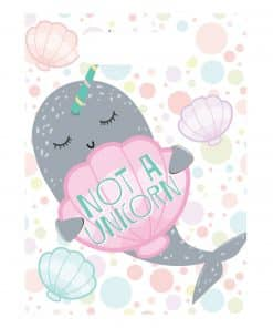 Narwhal Party Plastic Loot Bags