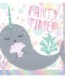 Narwhal Party Paper Napkins