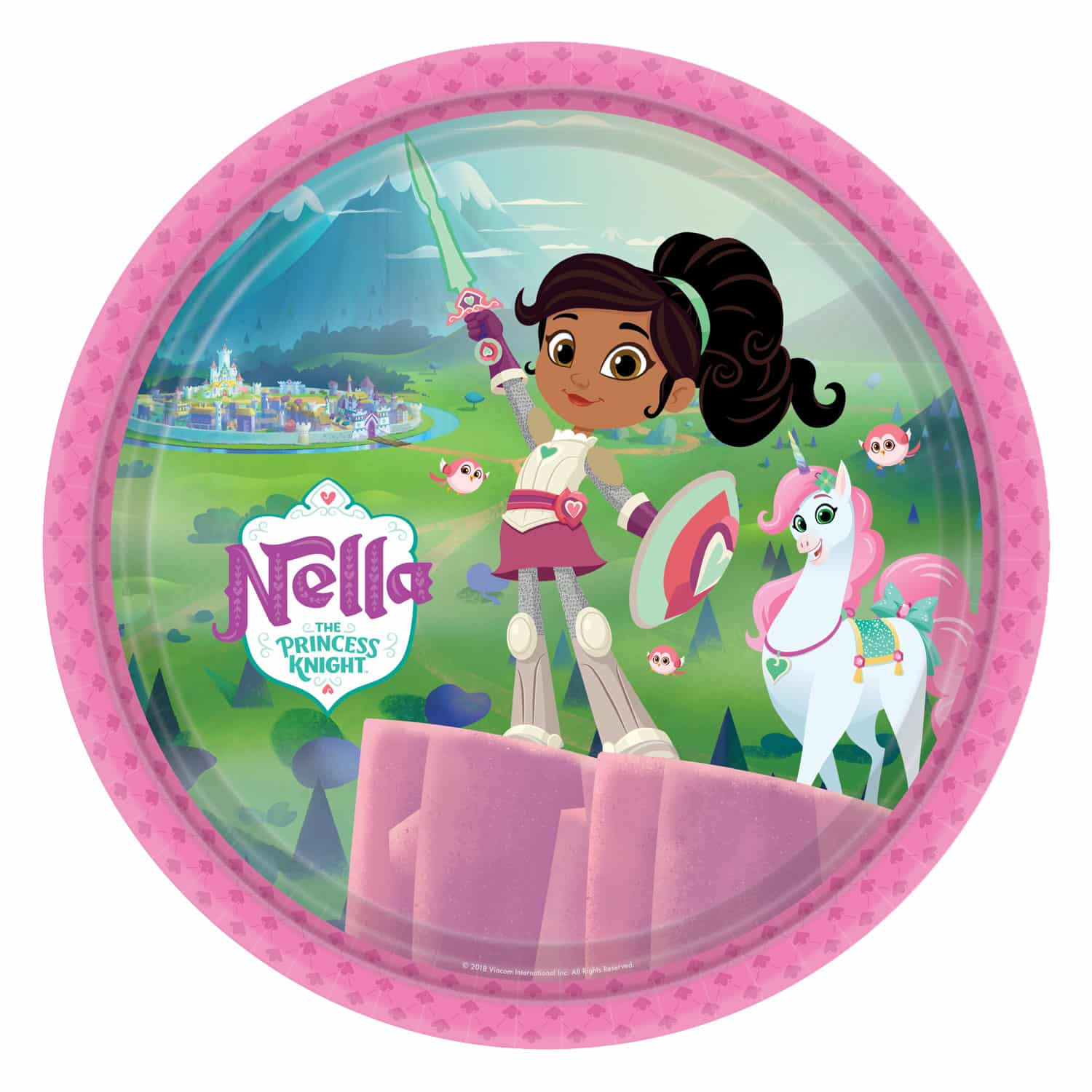 23b8dacb5a80 Nella The Princess Knight Party Paper Plates - 23cm (Pk 8)- Next Day ...