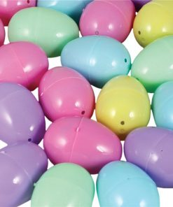 Pastel Colour Plastic Fillable Eggs