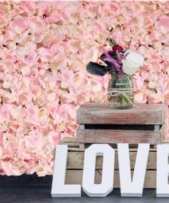 Pink Hydrangea Flower Wall