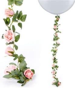 Pink Rose Garland
