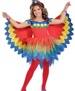 Pretty Parrot Fairy Child Costume