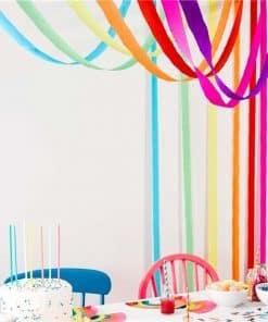 Rainbow Paper Streamers