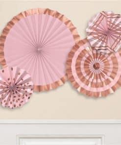 Rose Gold Blush Paper Fans