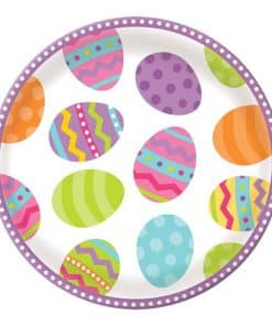 Easter Friends Party Round Plastic Serving Platter
