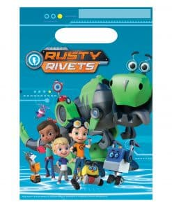Rusty Rivets Party Plastic Loot Bags