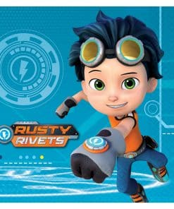 Rusty Rivets Party Paper Napkins