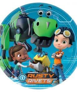 Rusty Rivets Party Paper Plates