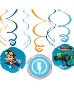 Rusty Rivets Party Swirl Decorations