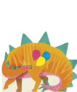 Little Dino Party Shaped Lunch Napkins