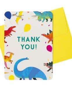 Little Dino Party Thank You Cards