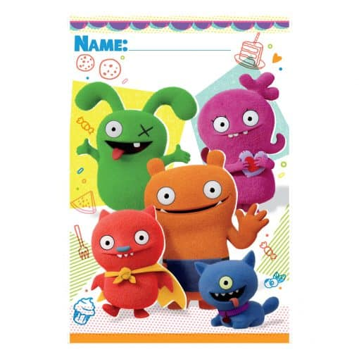 Ugly Dolls Party Plastic Loot Bags