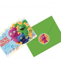 Ugly Dolls Party Postcard Invitations with Stickers
