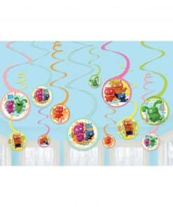 Ugly Dolls Party Swirl Decorations