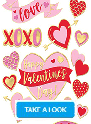 Valentines Party Shop - Take a look