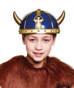 Blue & Gold Viking Helmet