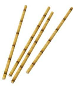 Bamboo Effect Paper Straws