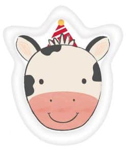 Barnyard Birthday Cow Shaped Plates