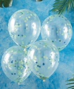 Blue & Green Confetti Balloons