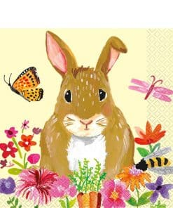 Floral Bunny Lunch Napkins