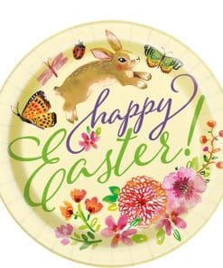 Floral Bunny Paper Plates