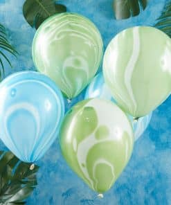Blue & Green Marble Balloons