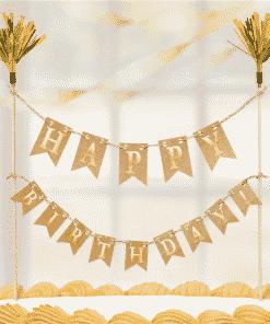Gold Cake Pick Banner