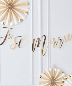 Gold Wedding Just Married Garland