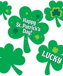 'Happy St Patrick's Day' Shamrock Cutouts