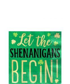 Let the Shenanigans Begin Beverage Napkins