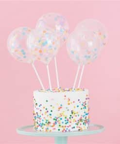 Pastel Confetti Mini Balloon Cake Toppers