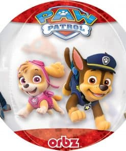 Paw Patrol Chase & Marshall Clear Orbz Foil Balloon