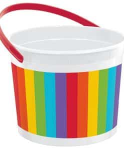 Rainbow Plastic Favour Bucket