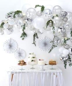 Silver Balloon Arch