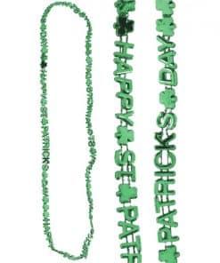 St Patrick's Day Shamrock Letter Necklace