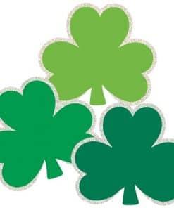 St Patrick's Day Mini Glitter Shamrock Cutouts