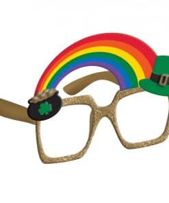 St Patrick's Day Rainbow Glasses