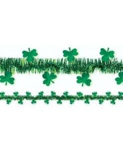 St Patrick's Day Shamrock Tinsel Garland