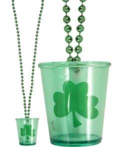 St Patrick's Day Shot Glass Necklace