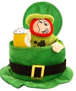 Top Hat with Drinking Leprechaun