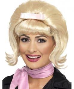 50's Flicked Beehive Bob Wig - Blonde