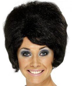 60's Beehive Wig - Black