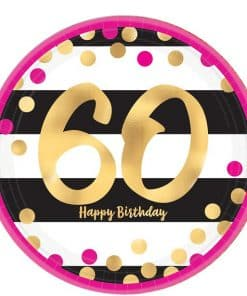 60th Pink & Gold Milestone