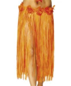 Adult Hula Grass Skirt Orange