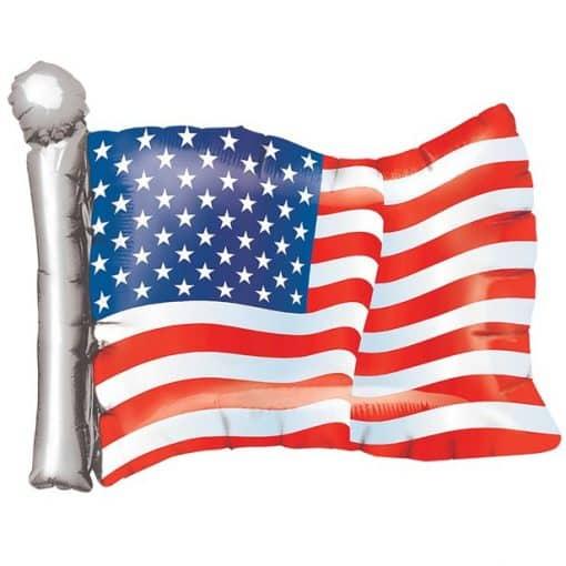 American Flag Supershape Balloon